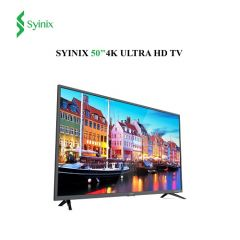 "Syinix 50"" Inch Android 4K UHD Smart LED TV - 50A710U- Black"