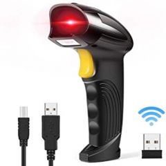 Handheld Barcode Scanner 2-in-1 (USB Wired and 2.4GHz Wireless)