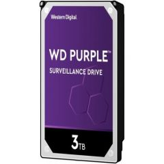 WD Surveillance Model WD30PURX 3TB Hard Disk Drive 5400 RPM Class SATA 6Gb/s 64MB Cache 3.5 Inch Purple