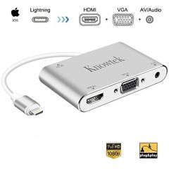 Lightning to HDMI/VGA/Audio Adapter 1080p HD For iPhone, iPad