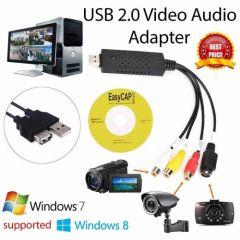 Easier CAP USB 2.0 Video Audio Capture Grabber Recorder Adapter Device VHS to DVD Converter Maker for Windows XP/VISTA Windows 7 8 32/64bit