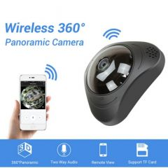 360 Panoramic 3D VR 3MP IP Camera, WIFI, Two way Audio (White)