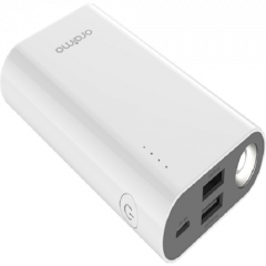 Oraimo 6000mAh Power Bank With Torch - White