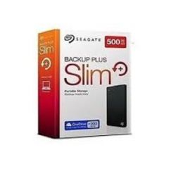Seagate Backup Plus Slim 500GB Portable External Hard Disk, USB 3.0 (Black)