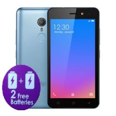 "Itel A33 5.0"" Screen, Android 8.1, 16GB ROM + 1GB ROM, 2PCS 2200mAh Battery, Fingerprint, 5+2MP Camera - Blue + FREE CASE"