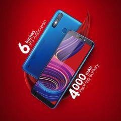 "Itel A56 Pro 5.99"" Screen, Android 9, 32GB ROM + 2GB RAM, 8MP+5MP Camera, 4000mAh, Fingerprint & Face ID - Blue + Free Case"