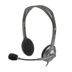 Logitech H110 Wired headset, Stereo Headphones with noise-cancelling