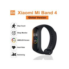 Mi Band 4 Amoled Color Screen With Bluetooth 5.0 Sports And Outdoors Fitness Tracker