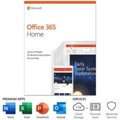 Microsoft Office 365 Home (6-User License / 12-Month Subscription / Product Key Card)